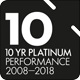 Super Ratings 10 years Platinum logo